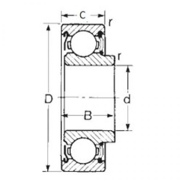45 mm x 100 mm x 30 mm  CYSD 87609 deep groove ball bearings #3 image