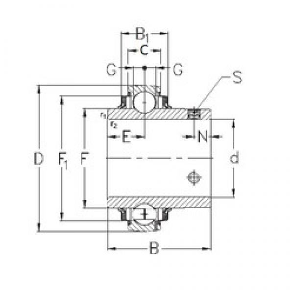 20 mm x 47 mm x 31 mm  NKE GYE20-KRRB deep groove ball bearings #3 image