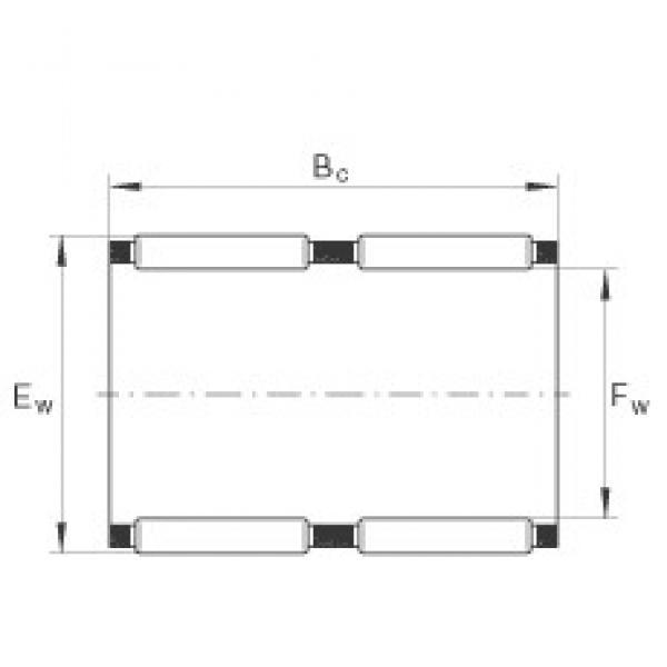 INA K60X68X30-ZW needle roller bearings #3 image