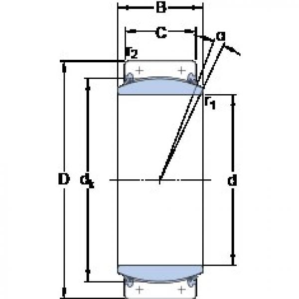 480 mm x 650 mm x 230 mm  SKF GEC 480 TXA-2RS plain bearings #3 image