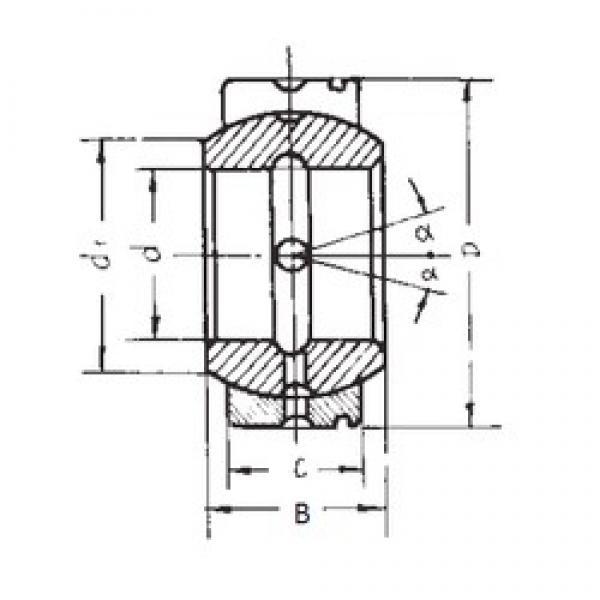 40 mm x 62 mm x 33 mm  FBJ GE40XS/K plain bearings #3 image