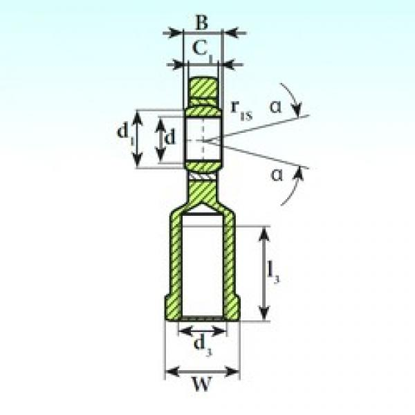 50 mm x 75 mm x 35 mm  ISB SI 50 C 2RS plain bearings #3 image