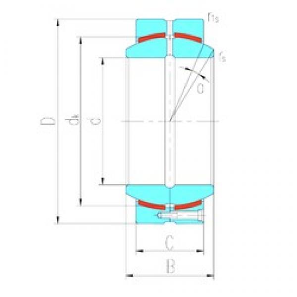 380 mm x 520 mm x 190 mm  LS GEC380HCS plain bearings #3 image