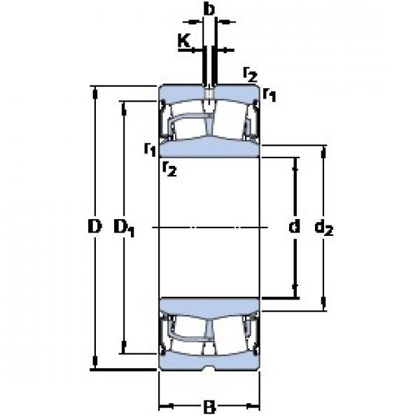 50 mm x 110 mm x 45 mm  SKF BS2-2310-2RS/VT143 spherical roller bearings #3 image