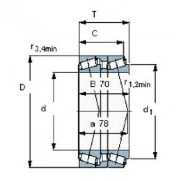 60 mm x 125 mm x 80 mm  SKF T7FC 060T80/QCL7CDTC10 tapered roller bearings #3 image