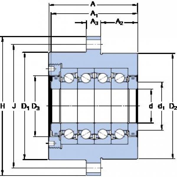SKF FBSA 210/QFC thrust ball bearings #1 image