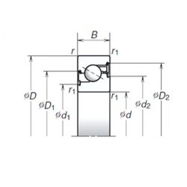 40 mm x 72 mm x 15 mm  NSK 40TAC72BDDG thrust ball bearings #1 image