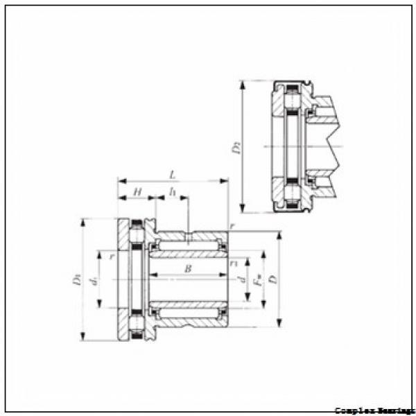 14 mm x 26 mm x 17 mm  NTN NKXR17T2Z+IR14×17×17 complex bearings #2 image