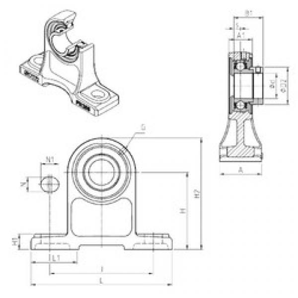 SNR ESPH205 bearing units #3 image