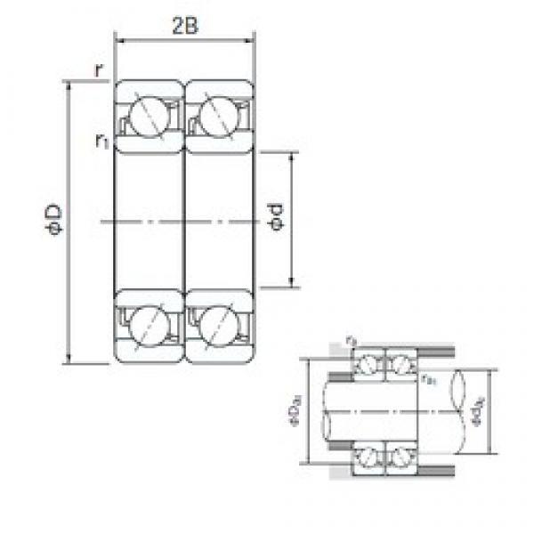 55 mm x 120 mm x 29 mm  NACHI 7311BDT angular contact ball bearings #3 image