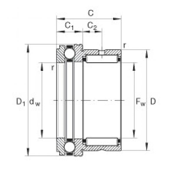 INA NKX30 complex bearings #3 image