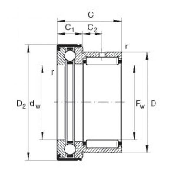 INA NKX50-Z complex bearings #3 image
