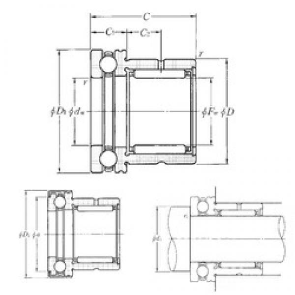 NTN NKX35T2Z complex bearings #3 image