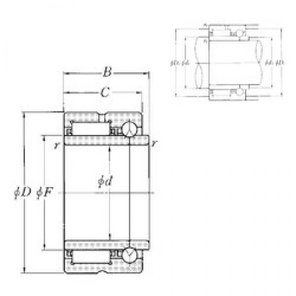 70 mm x 100 mm x 45 mm  NTN NKIB5914R complex bearings #3 image