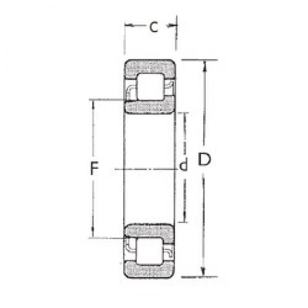 75 mm x 160 mm x 37 mm  FBJ NJ315 cylindrical roller bearings #3 image