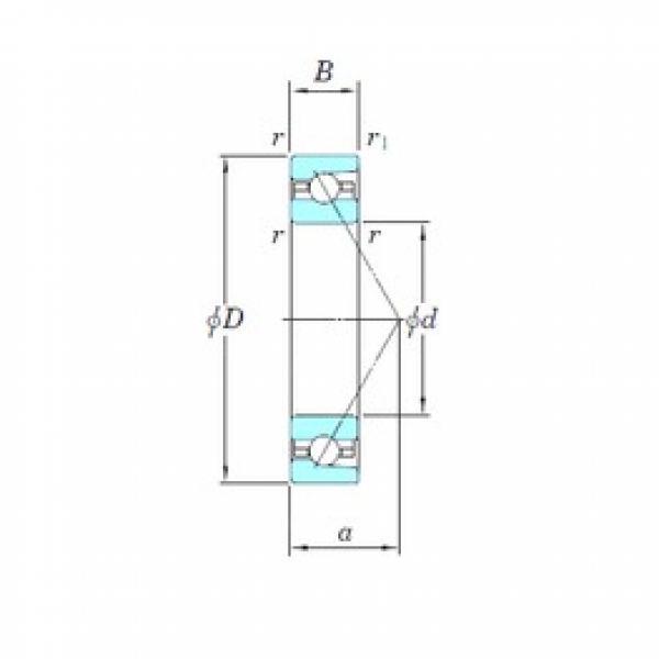 140 mm x 210 mm x 33 mm  KOYO 3NCHAR028 angular contact ball bearings #3 image