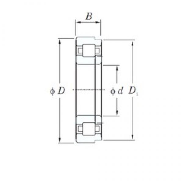 30 mm x 72 mm x 19 mm  KOYO NUP306 cylindrical roller bearings #3 image