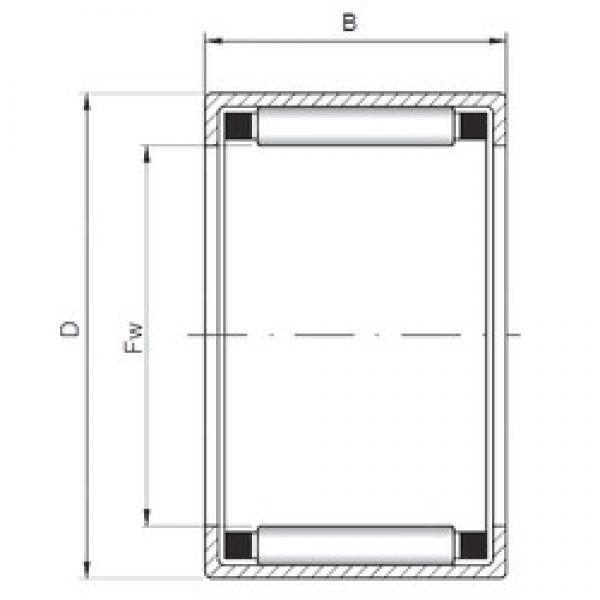 ISO HK354520 cylindrical roller bearings #3 image