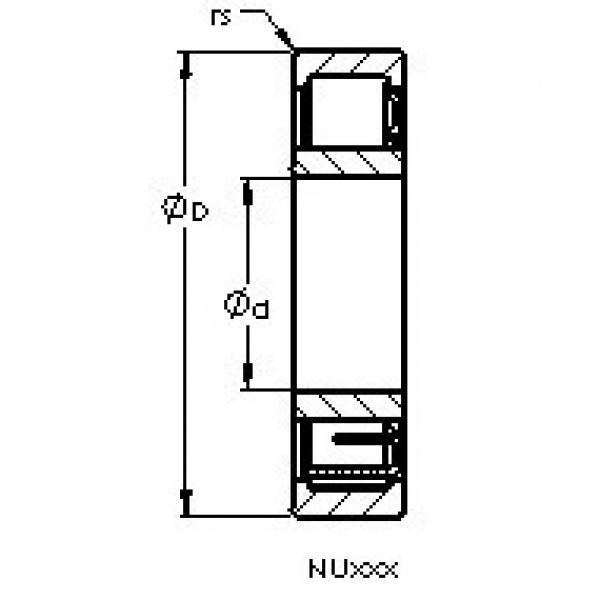 AST NU2215 EM cylindrical roller bearings #3 image