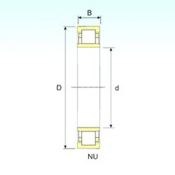 200 mm x 360 mm x 58 mm  ISB NU 240 cylindrical roller bearings #3 image