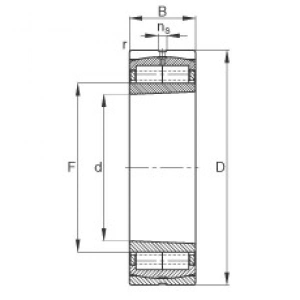320 mm x 480 mm x 121 mm  FAG Z-565671.ZL-K-C5 cylindrical roller bearings #3 image
