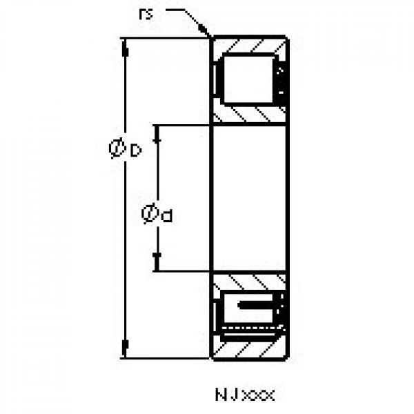 AST NJ2206 EM6 cylindrical roller bearings #3 image