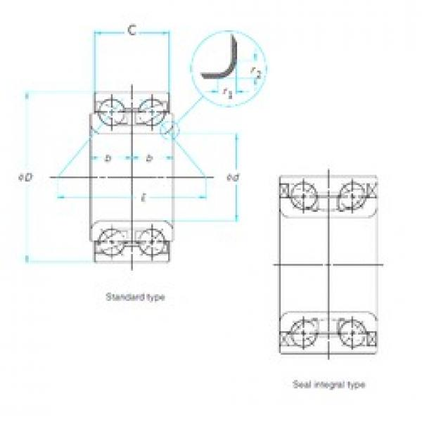 30 mm x 60,3 mm x 37 mm  CYSD DAC306003037 angular contact ball bearings #3 image