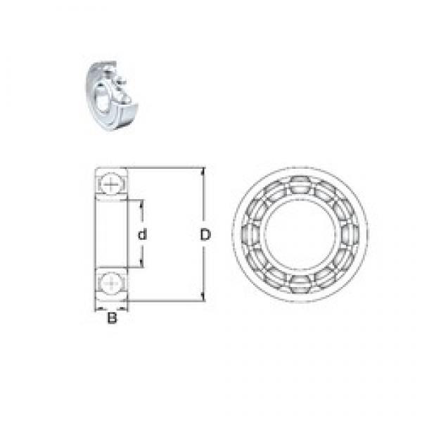 15 mm x 35 mm x 11 mm  ZEN 6202-2Z deep groove ball bearings #3 image