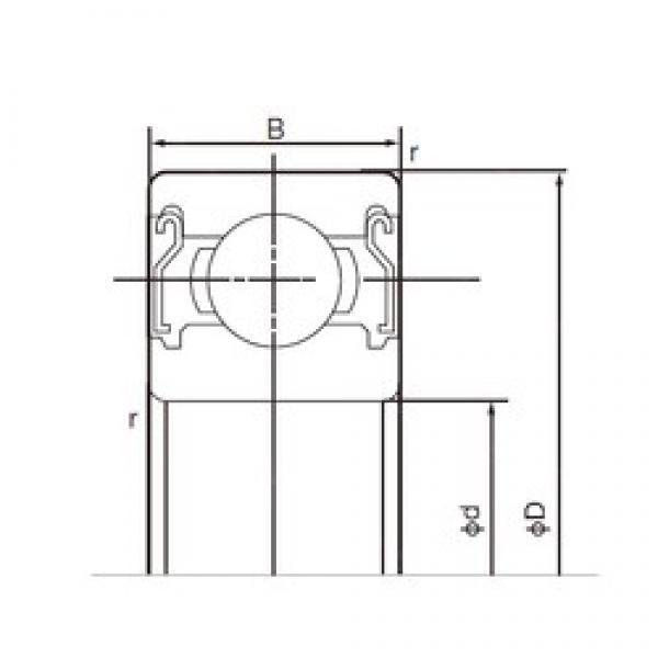 25 mm x 52 mm x 15 mm  NACHI 6205ZZE deep groove ball bearings #3 image