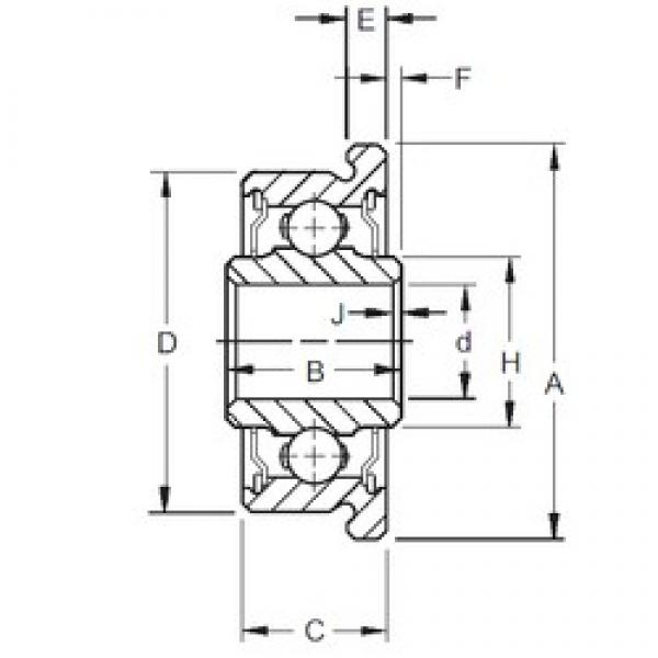 4,762 mm x 14,305 mm x 6,35 mm  Timken F3DD deep groove ball bearings #3 image
