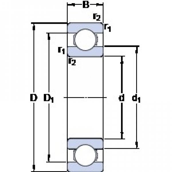 1.397 mm x 4.762 mm x 1.984 mm  SKF D/W R1 deep groove ball bearings #3 image