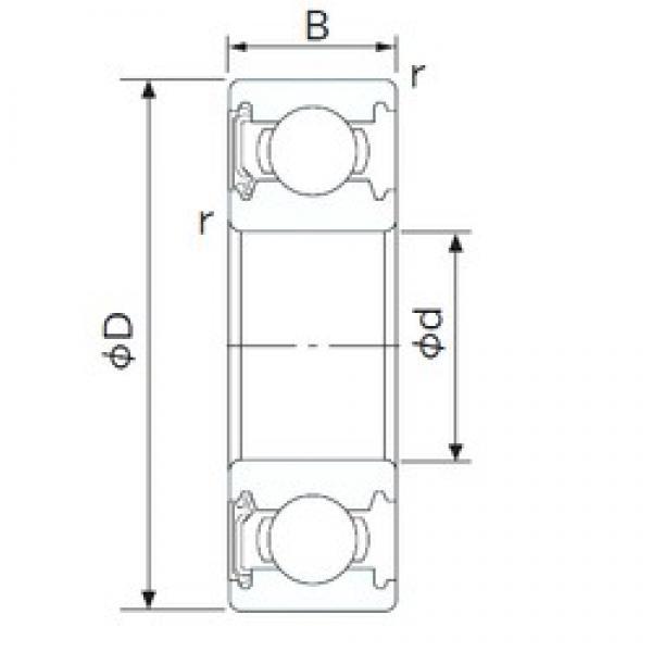 240 mm x 320 mm x 38 mm  CYSD 6948-RS deep groove ball bearings #3 image