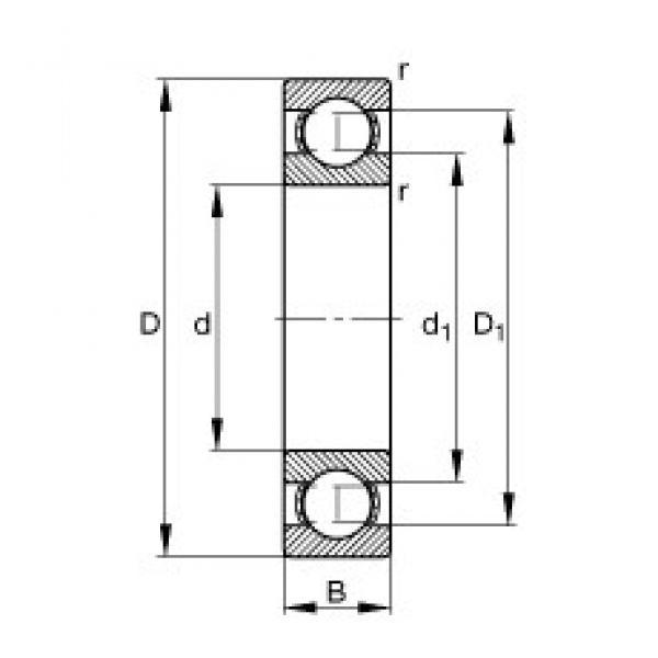 440 mm x 540 mm x 46 mm  FAG 61888-M deep groove ball bearings #3 image