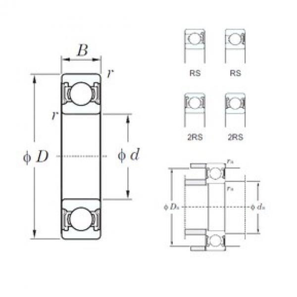 30 mm x 72 mm x 19 mm  KOYO 6306-2RS deep groove ball bearings #3 image