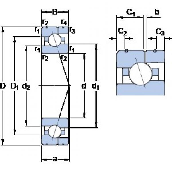 40 mm x 68 mm x 15 mm  SKF 7008 ACE/P4AL angular contact ball bearings #3 image
