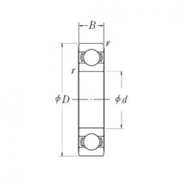 35 mm x 55 mm x 10 mm  NSK 6907L11ZZ deep groove ball bearings #3 image