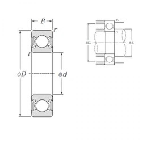 12 mm x 28 mm x 8 mm  NTN 6001LLH deep groove ball bearings #3 image