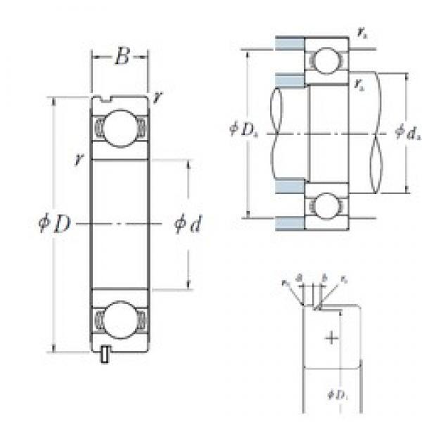 70 mm x 150 mm x 35 mm  NSK 6314N deep groove ball bearings #3 image