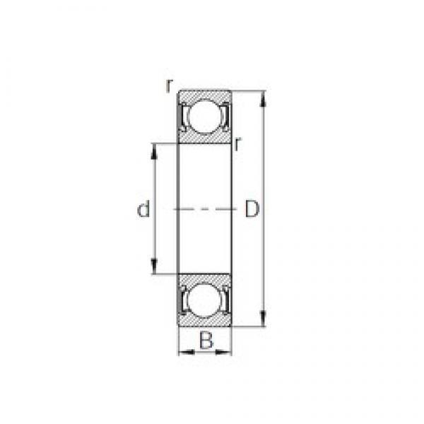 55 mm x 100 mm x 21 mm  CYSD 6211-2RS deep groove ball bearings #3 image
