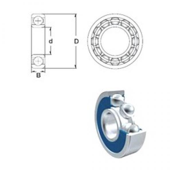 7,937 mm x 23,018 mm x 7,937 mm  ZEN 1605-2RS deep groove ball bearings #3 image