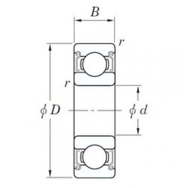 7 mm x 19 mm x 6 mm  KOYO SE 607 ZZSTMG3 deep groove ball bearings #3 image