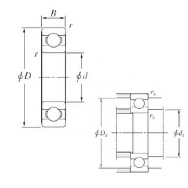 130 mm x 180 mm x 24 mm  KOYO 6926 deep groove ball bearings #3 image