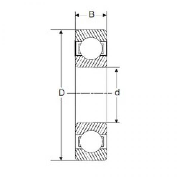 25 mm x 52 mm x 15 mm  SIGMA 6205 deep groove ball bearings #3 image