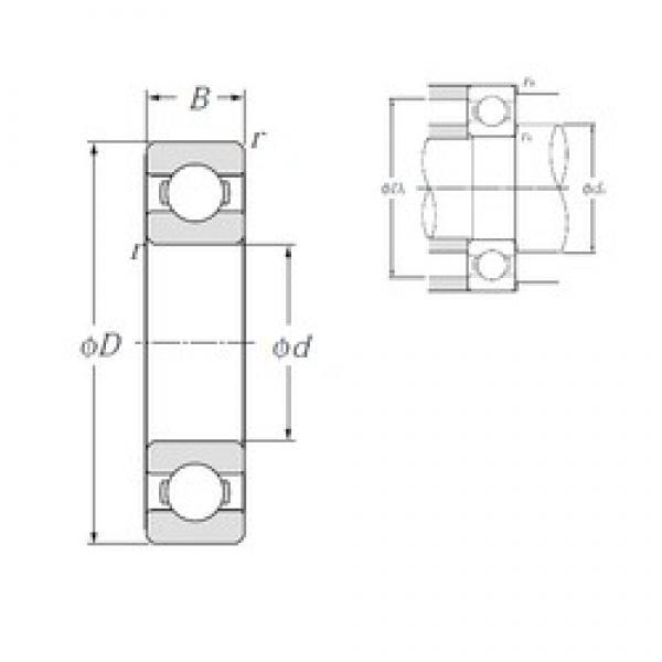 10 mm x 35 mm x 11 mm  NTN 6300 deep groove ball bearings #3 image