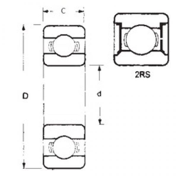 75 mm x 160 mm x 37 mm  FBJ 6315-2RS deep groove ball bearings #3 image