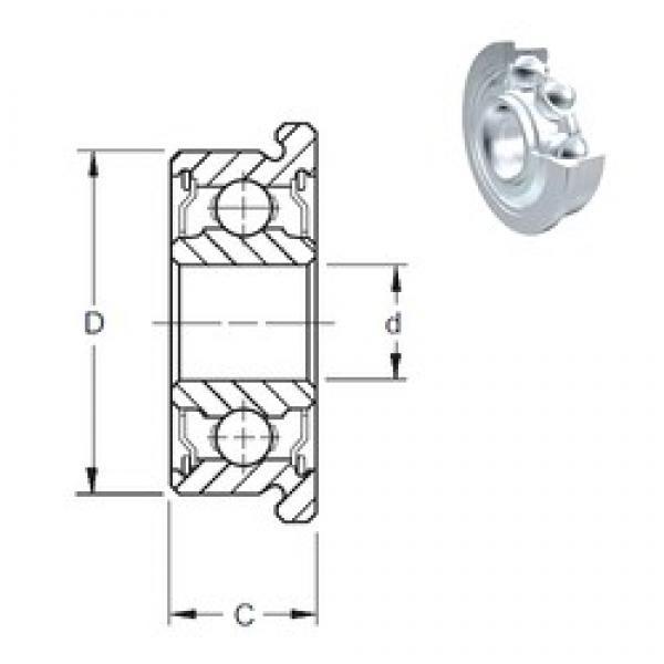 8 mm x 16 mm x 5 mm  ZEN F688-2Z deep groove ball bearings #3 image