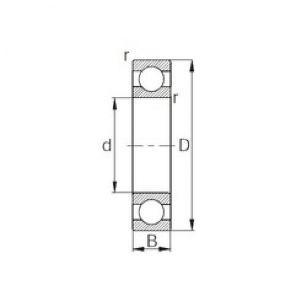 34,925 mm x 76,2 mm x 17,46 mm  CYSD RLS11 deep groove ball bearings #3 image