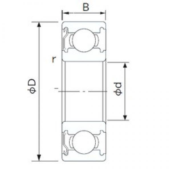 75 mm x 95 mm x 10 mm  NACHI 6815Z deep groove ball bearings #3 image
