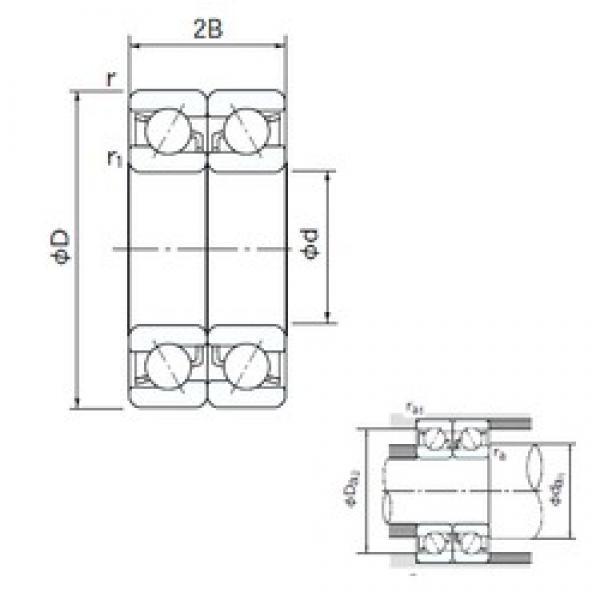 200 mm x 360 mm x 58 mm  NACHI 7240BDB angular contact ball bearings #3 image