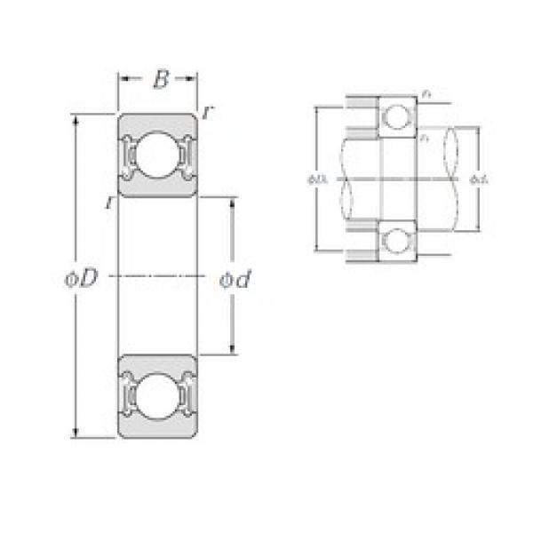 20 mm x 27 mm x 4 mm  NTN 6704LLF deep groove ball bearings #3 image
